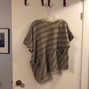 LUUKAA asymmetrical striped sweater